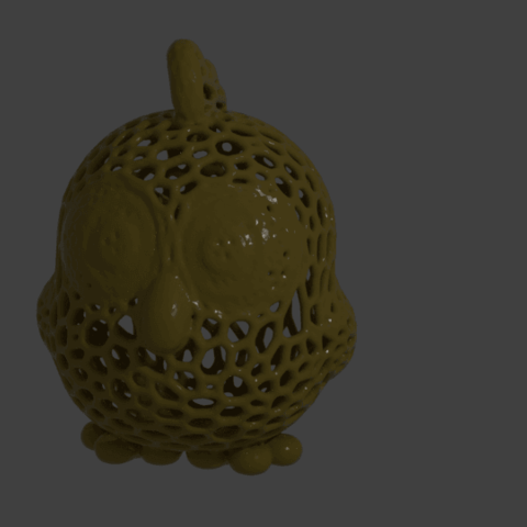 mpoussin.png Download free STL file Voronoized incense stick chick • Model to 3D print, albino