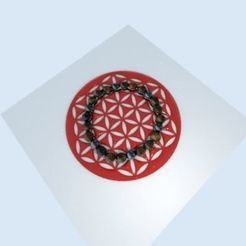 fleur de vie.jpg Download STL file flower of life • 3D printable design, albino