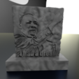 martinlk.png Download free STL file Martin Luther King JR • 3D printing template, albino