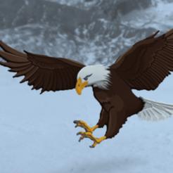 aigle.png Télécharger fichier STL gratuit Aigle royale • Objet imprimable en 3D, albino