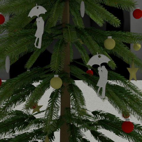 Free 3D print files let's sing under the snow, albino