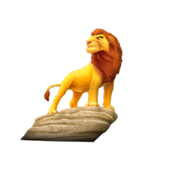 mlion.png Download free STL file lion king • 3D printer template, albino