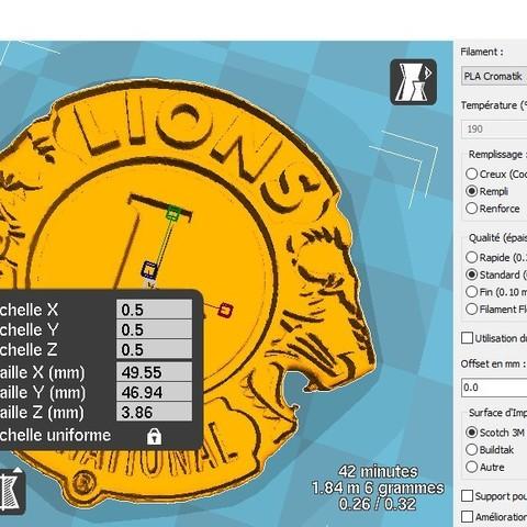 "Free 3D model logo ""LIONS CLUB INTERNATIONAL"", albino"