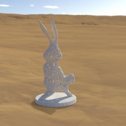"Download free 3D print files ""Voronoi"" rabbit, albino"