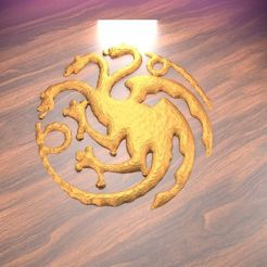 Modelos 3D para imprimir gratis Emblema de la Casa TARGARYEN, albino