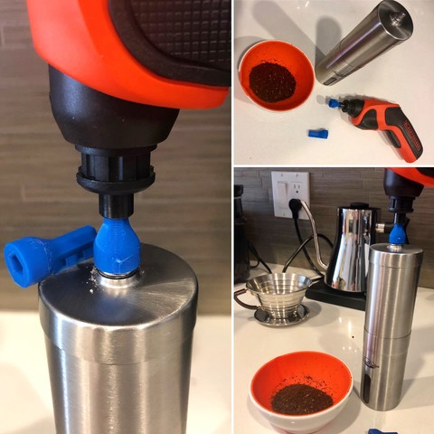 Free STL file Coffee Bit adapter for Hand Grinder, printfutura