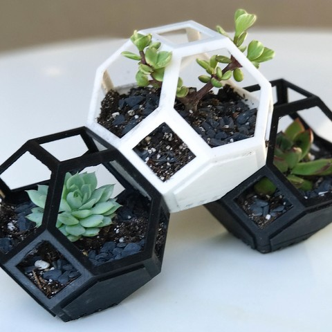 Free 3d print files Plantygon - Modular Geometric Stacking Planter for Succulents, printfutura