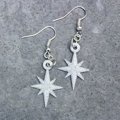 Download free 3D print files Starflake Earrings, printfutura