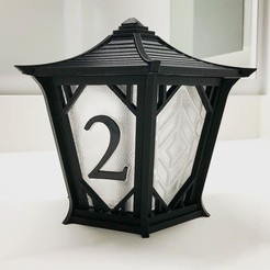 Free 3D print files Japanese Centerpiece Lanterns for Wedding, printfutura