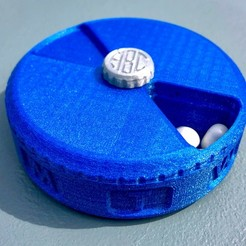 Free 3d print files Weekly Pill Case / Organizer with Monogram Screw, printfutura