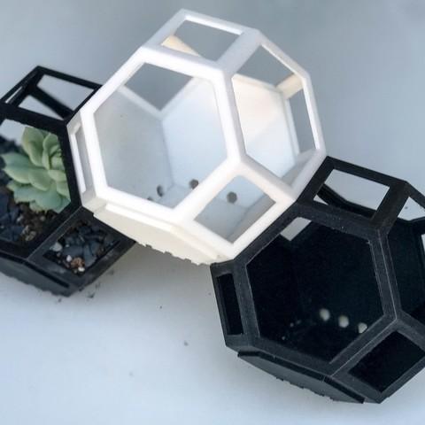 planty-11.jpg Descargar archivo STL gratis Plantygon - Plantadora Modular de Apilamiento Geométrico para Suculentas • Objeto para imprimir en 3D, printfutura