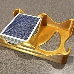 Descargar archivos 3D gratis Bandeja de Cartas Ondulada - Porta Cartas de Doble Mazo, printfutura