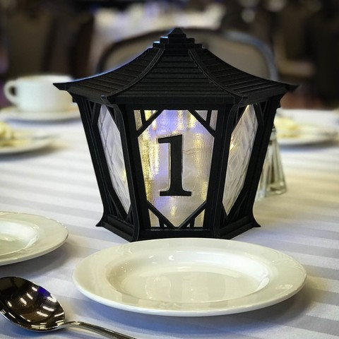 lantern_5.jpg Download free STL file Japanese Centerpiece Lanterns for Wedding • Template to 3D print, printfutura