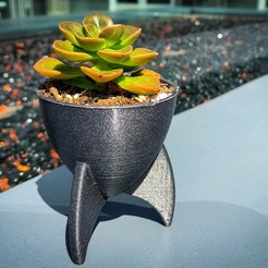 Download free 3D printer files Retro Rocket Planter / Pencil Cup, printfutura