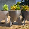 rocketplanter2.jpg Download free STL file Retro Rocket Planter / Pencil Cup • 3D printing template, printfutura