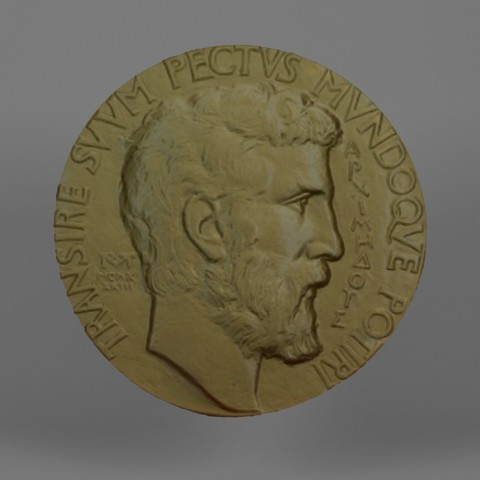 Download STL file Fields Medal (Fields Medal) • 3D printer model, Telok