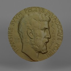 Download STL files Fields Medal (Fields Medal), Telok