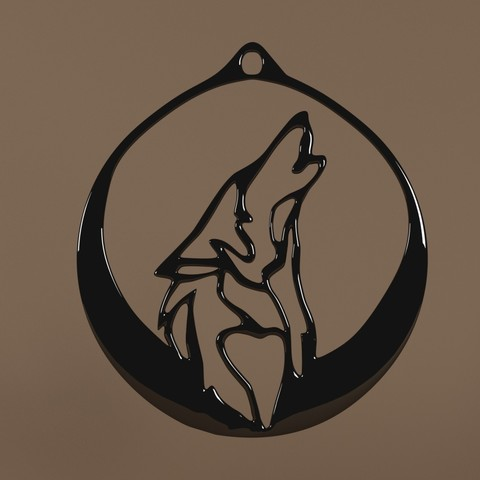 Download STL file Pendant Wolf (Pendant Wolf) • 3D printer model, Telok