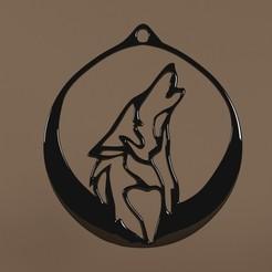 Fichier STL Pendant Wolf (Pendentif Loup), Telok
