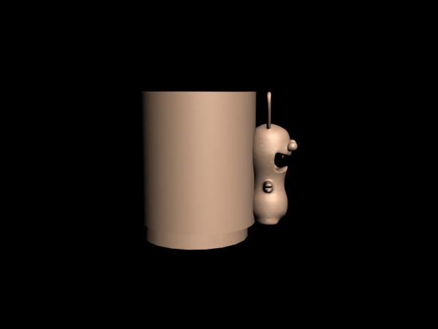 Lapin cretin 1 verre 3.png Download free STL file Glass for draining toothbrushes Rabbid rabbit • 3D printing design, CE_FABLAB_FREE_WORK_EXCHANGE
