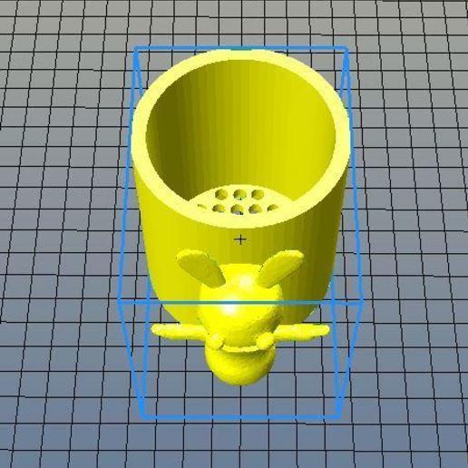Download free 3D printing files Glass for draining toothbrushes Rabbit moron, riri26