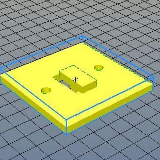 Download free 3D printer designs Wall bracket aluminium bathroom rail, riri26