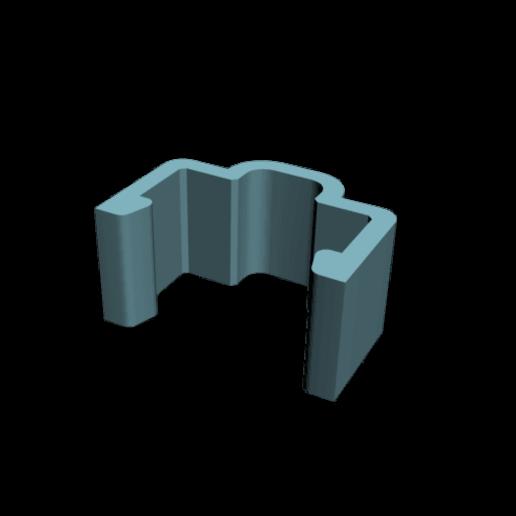 Download free STL file single clip for aluminium rail 20x20mm • 3D printable design, CE_FABLAB_FREE_WORK_EXCHANGE