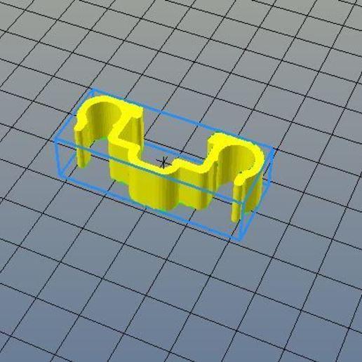 Télécharger fichier STL gratuit clip double accroche cable rail alu 20x20mm • Modèle imprimable en 3D, CE_FABLAB_FREE_WORK_EXCHANGE