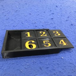 Download free 3D printer model Sandrine's dice game box, CE_FABLAB_FREE_WORK_EXCHANGE