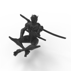 Genji statue, figurine 3D printer file, Skinner