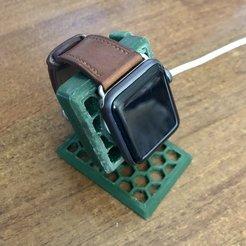 Télécharger fichier STL gratuit Borne de recharge Apple Watch • Plan pour imprimante 3D, Skinner