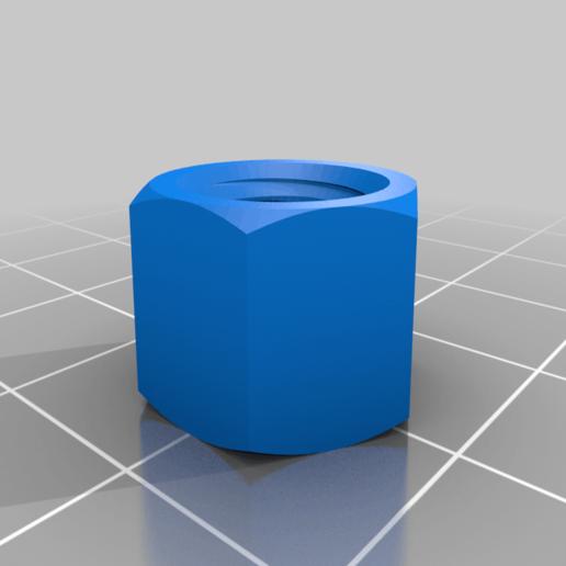 Ecrou_M8.png Télécharger fichier STL gratuit poignee ronde • Objet à imprimer en 3D, Thomy