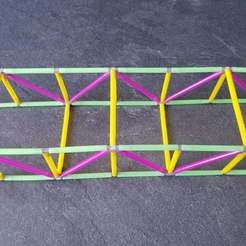 Download free STL file truss bridge type warren • Object to 3D print, Thomy