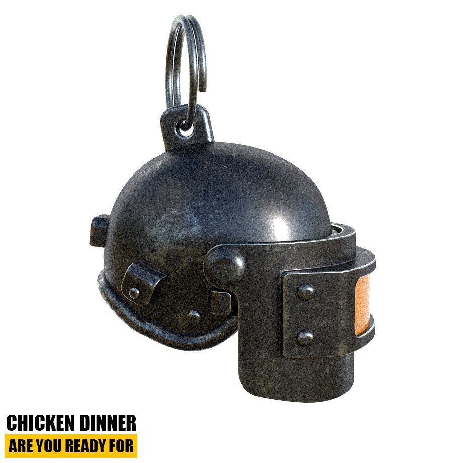 Helmet_Level3_PUBG_1_3DPrint.jpg Download STL file Helmet Rys-T Keyring Pendant • 3D printable template, MaxEmski