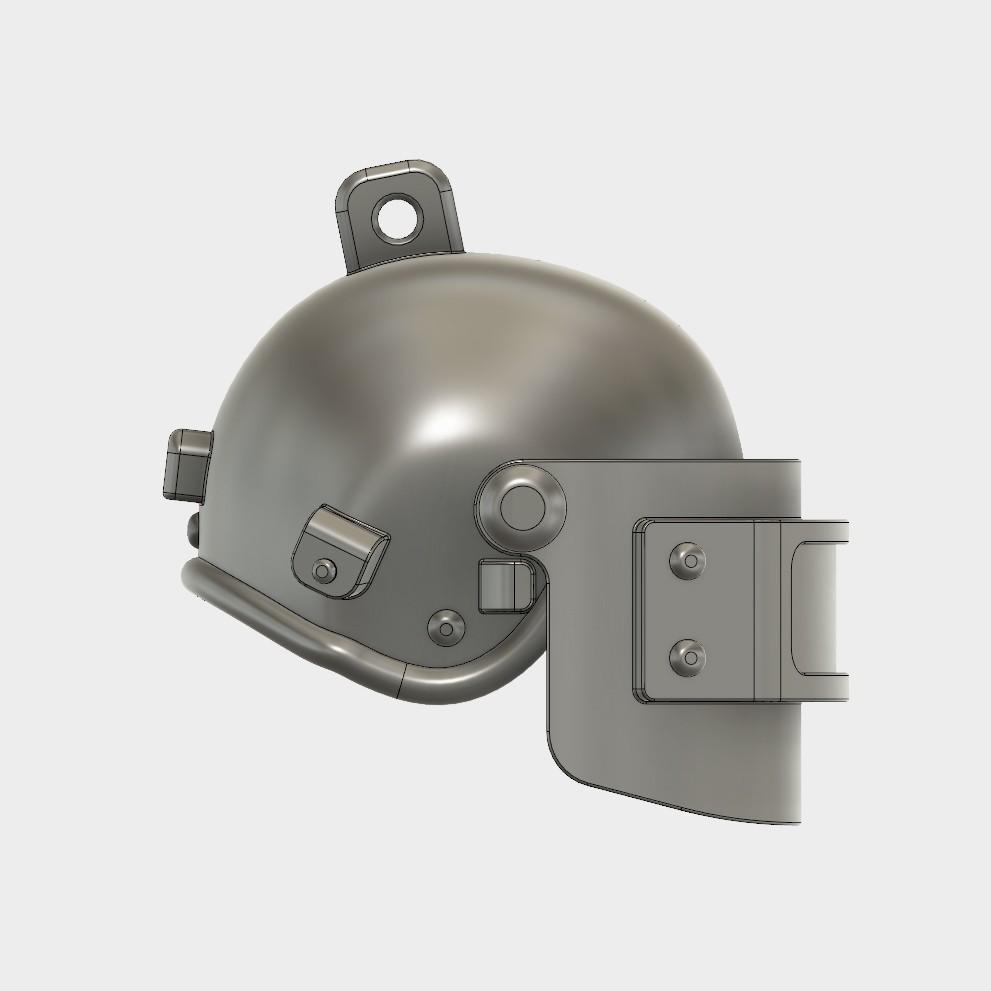 Helmet_Level3_PUBG_4_3DPrint.jpg Download STL file Helmet Rys-T Keyring Pendant • 3D printable template, MaxEmski