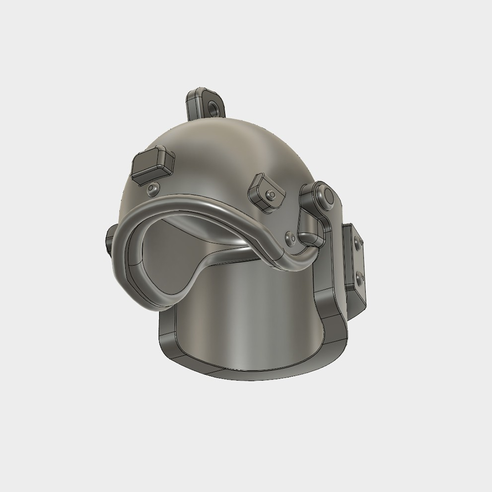 Helmet_Level3_PUBG_16_3DPrint.jpg Download STL file Helmet Rys-T Keyring Pendant • 3D printable template, MaxEmski