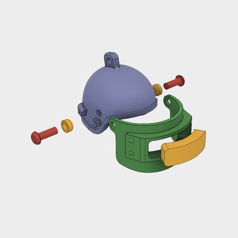 Helmet_Level3_PUBG_12_3DPrint.jpg Download STL file Helmet Rys-T Keyring Pendant • 3D printable template, MaxEmski