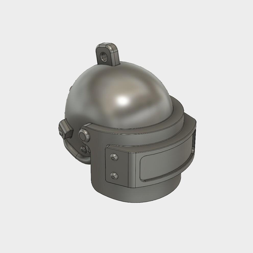 Helmet_Level3_PUBG_15_3DPrint.jpg Download STL file Helmet Rys-T Keyring Pendant • 3D printable template, MaxEmski