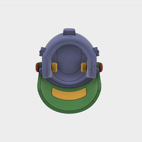 Helmet_Level3_PUBG_10_3DPrint.jpg Download STL file Helmet Rys-T Keyring Pendant • 3D printable template, MaxEmski