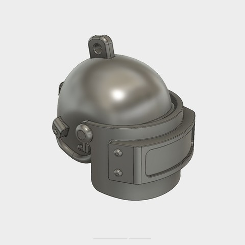 Helmet_Level3_PUBG_5_3DPrint.jpg Download STL file Helmet Rys-T Keyring Pendant • 3D printable template, MaxEmski