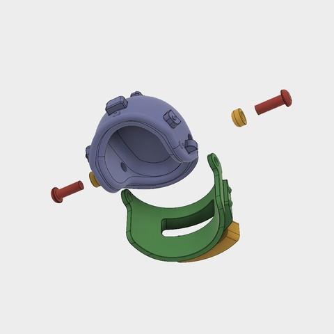 Helmet_Level3_PUBG_13_3DPrint.jpg Download STL file Helmet Rys-T Keyring Pendant • 3D printable template, MaxEmski