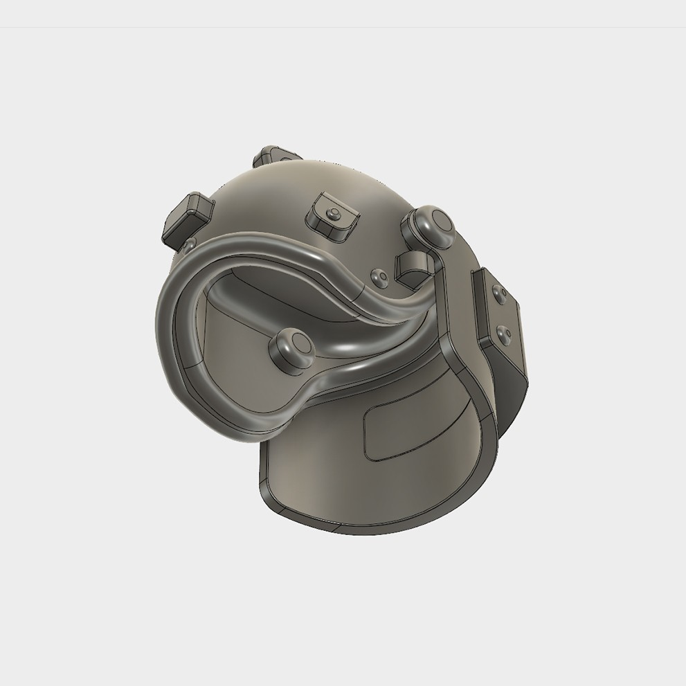 Helmet_Level3_PUBG_8_3DPrint.jpg Download STL file Helmet Rys-T Keyring Pendant • 3D printable template, MaxEmski