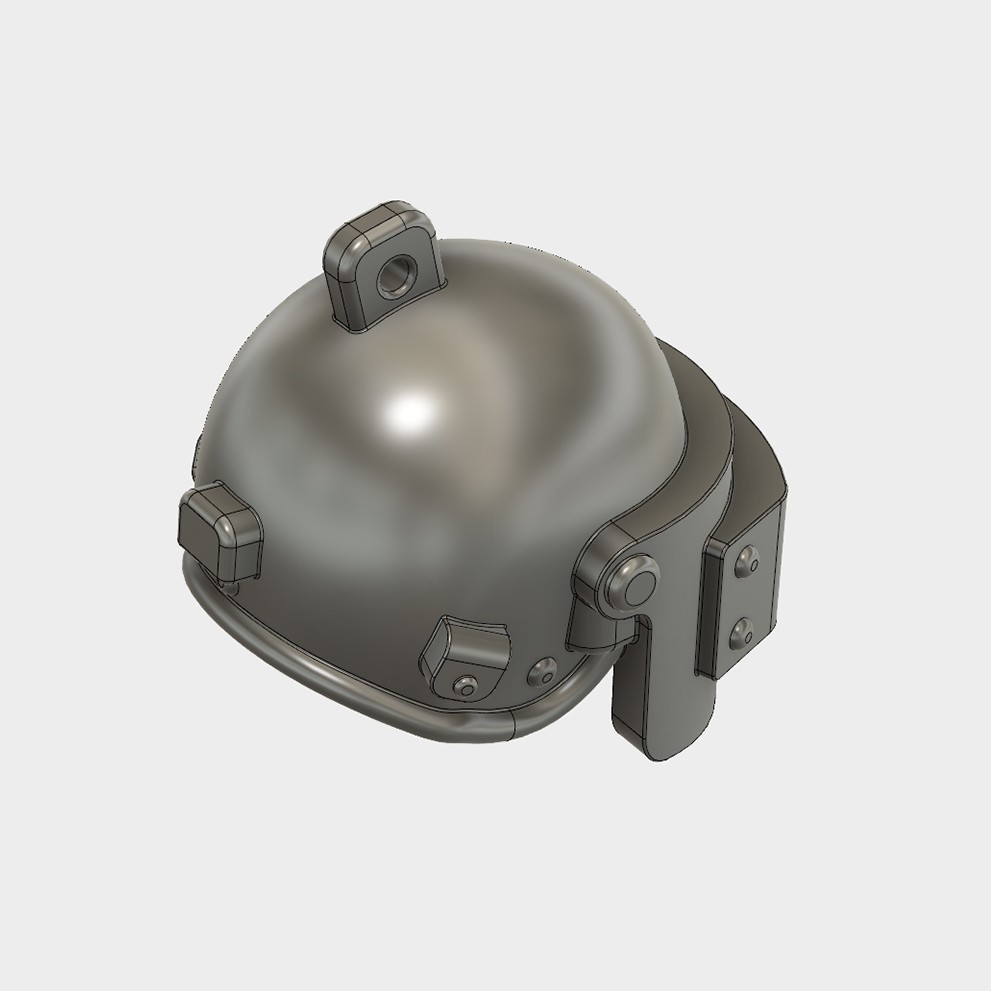 Helmet_Level3_PUBG_14_3DPrint.jpg Download STL file Helmet Rys-T Keyring Pendant • 3D printable template, MaxEmski