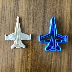 IMG_3466.jpg Download STL file Jet Fighter Cookie Cutter (With Extra Promo) • 3D printable model, dwain
