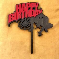 Descargar modelos 3D El adorno de la torta de cumpleaños de Spiderman, dwain