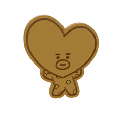 BT21 Heart v1.png Download STL file BT21 Tata Cookie Cutter • 3D printing template, dwain