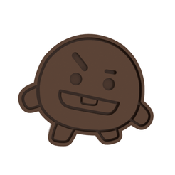BT21 Shooky v2 v1.png Download STL file BT21 Shooky v2 Cookie Cutter • 3D print object, dwain