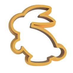 Rabbit v2.png Télécharger fichier STL gratuit Coupeuse à biscuits pour lapin • Objet pour impression 3D, dwain