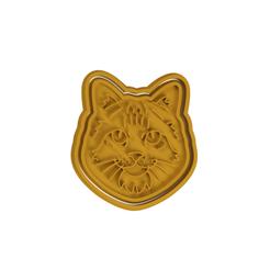 Norwegian Forest.png Download STL file Norwegian Forest Cat Cookie Cutter • 3D printer design, dwain
