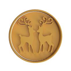 Deer Christmas v2.png Download STL file Deer Christmas Cookie Cutter • 3D print object, dwain